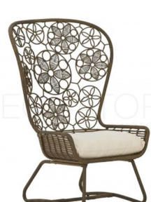 Synthetic rattan flower chair