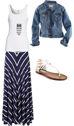 Striped maxi, created by samantha-thomas24 on Polyvore