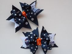 Small Denver Broncos Bows for Toddlers by ransomletterhandmade, $10.00