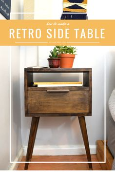 How to make a Retro Side Table (FREE PLANS)!