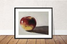 Apple Painting, PRINTS, Canvas, Posters, Commissions - Fine Art from original oil painting by James Coates Canvas Poster, Poster Wall, Canvas Art Prints, Painting Prints, Canvas Wall Art, Dog Paintings, Original Paintings, Apple Painting, Apple Prints