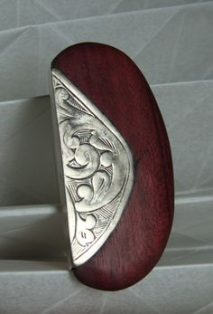 Llana - Blanca Serrano ~ silver and wood ring