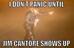 """""""I don't panic until Jim Cantore shows up. Jim Cantore, Weather Jokes, Florida Hurricane, Florida Weather, Ugly Cry, Hurricane Matthew, Funny Quotes, Funny Memes, Humor Quotes"""