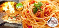 Restaurante La Posta - $80 en lugar de $160 por 1 Deliciosa Pasta o 1 Pizza a la Leña  + 1 Cerveza o 1 Refresco. Click: CupoCity.com