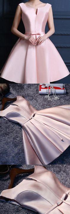 Short Prom Dresses, Lace Prom Dresses, Pink Prom Dresses, Prom Dresses Short, Custom Prom Dresses, Pink Homecoming Dresses, Custom Made Prom Dresses, Short Homecoming Dresses, Prom Dresses Lace, Pink Lace dresses, Sleeveless Prom Dresses, Lace Up Prom Dresses, Bowknot Prom Dresses