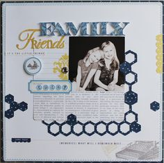 Family Friends layout by Jamie Harder using Teresa Collns - Everyday Moments and Cricut Craft Room