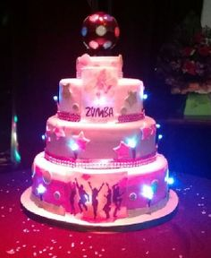 Zumba cake zumba cake ideas pinterest zumba for Gimnasio 9f
