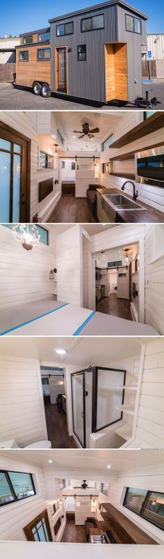 Beautiful house and looks lIke a good size in terms of towing. would be cool if the bedroom wall folded away so that area could be part of the living room when needed...