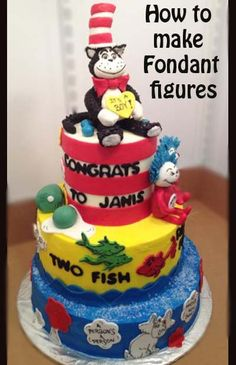 Dr. Seuss Cake- Great Decorating Tips here.