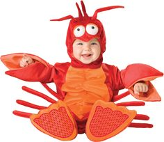 Our infant lil lobster costume won't be a crab at your next Halloween costume party! This baby animal costume comes straight from the sea and is a fun infant costume for Halloween. Cute Baby Halloween Costumes, Baby First Halloween, Toddler Costumes, Cute Costumes, Halloween Kostüm, Lobster Halloween, Costume Ideas, Infant Halloween, Spirit Halloween