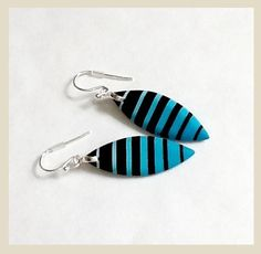 blue and black earrings