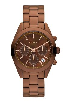 DKNY Analog Women's Watch Brown Stainless-Steel Wrist Watch