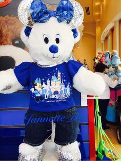 Disney Build A Bear Disneyland Diamond 60th Anniversary Plush Toy Unstuffed RARE