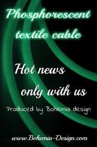 Textilní kabel Fosforeskující 2 x 0,75 mm2