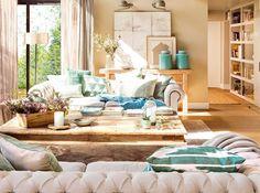 14 motivos para enamorarte de tu casa en San Valentín Condo Living, Home And Living, Living Spaces, Living Room Designs, Living Room Decor, Interior Decorating, Interior Design, House Design, Luz Natural