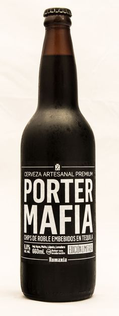 Romania [Craft Beer] - Porter Mafia by BURNOUT , via Behance
