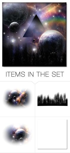 """Dark Side of the Moon"" by debraelizabeth ❤ liked on Polyvore featuring art"
