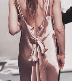 Pink nude satin slip on dress @jacintachiang