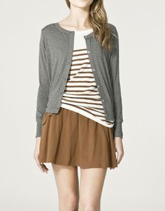 stripes, grey and short skirt