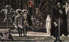 Hamlet illustration by Savva Brodsky.
