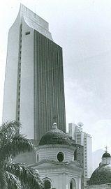 Edificio Coltejer, estructura emblemática de Medellín 1980
