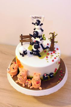 Shaun the Sheep - Cake by Janka