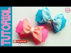 DIY von Elysia Handmade – Y … Ribbon Bow Tutorial, Tutorial Diy, Hair Bow Tutorial, Ribbon Hair Bows, Diy Hair Bows, Diy Ribbon, Rainbow Loom Charms, Ribbon Sculpture, Kids Hair Accessories