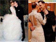Nicole Richie & Joel Madden, Marchesa wedding gown.