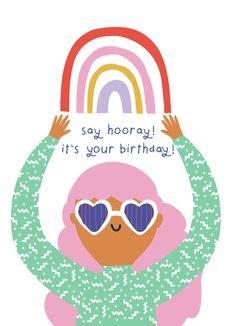 Leading Illustration & Publishing Agency based in London, New York & Marbella. Birthday Wishes Cards, Bday Cards, Happy Birthday Messages, Happy Birthday Quotes, Happy Birthday Images, Happy Birthday Greetings, Birthday Greeting Cards, Palette Pastel, Cumpleaños Diy