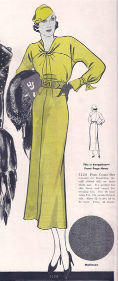 Butterick 5228; featured in Butterick Fashion Book Fall 1933