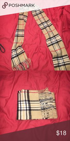 Soft scarf Burberry inspired fashion scarf soooo soft Accessories Scarves & Wraps