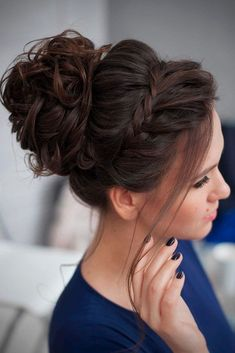 Awesome 57 Fabulous Braided Updo Hairstyle Women Ideas. More at http://trendwear4you.com/2018/03/16/57-fabulous-braided-updo-hairstyle-women-ideas/