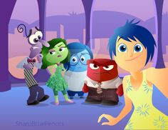 Let's Take A Selfie! by SharpBluePencils on DeviantArt New Pixar Movies, Disney Movies, Disney And Dreamworks, Disney Pixar, Redhead Characters, Inside Out Emotions, The Others Movie, Disney Inside Out, Joy And Sadness