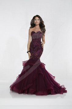 Tiffany Designs prom dresses create a sophisticated fairy tale look that will have you being the bell of the ball. Shop Formal Approach for our favorite Tiffany Designs styles! Red Bridesmaid Dresses, Red Wedding Dresses, Grad Dresses, Mermaid Prom Dresses, Event Dresses, Pageant Dresses, Formal Evening Dresses, Evening Gowns, Strapless Dress Formal