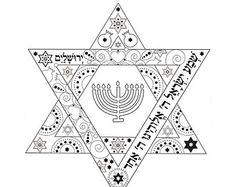 Hanukkah Prayers-Menorah Printable-Hanukiah por zebratoys en Etsy