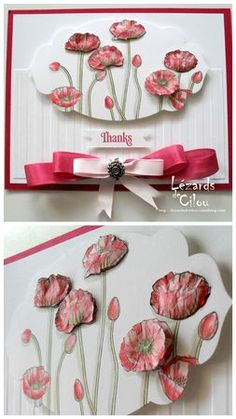 A Stampin' Up! Card Making Inspiration, Making Ideas, Thank U Cards, Poppy Cards, Making Greeting Cards, Stamping Up Cards, Card Making Techniques, Flower Cards, Creative Cards