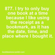 Since I almost never buy just one book, I would probably copy the receipt.  :)  ~na