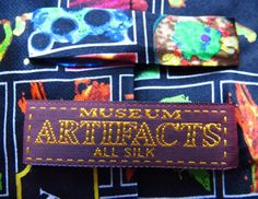 Museum Artifacts Mens Microbiology Medicine Necktie – Black – One Size Neck Tie