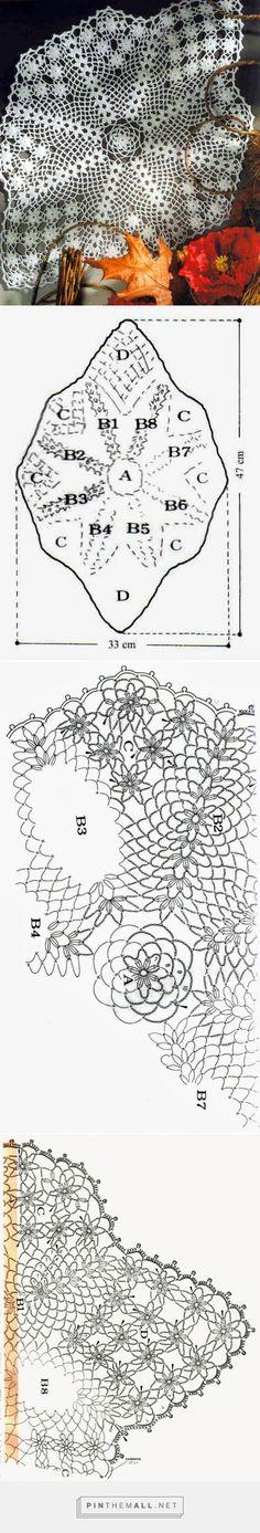 tejidos artesanales en crochet: carpeta copitos de nieve - created via http://pinthemall.net