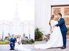 Amy Hirschi Photography // LDS Wedding // Bountiful Temple Wedding // First Look // Bridals // Utah Wedding Photographer // Wedding Photography // Candid wedding pictures // Love // Pink and Blue wedding