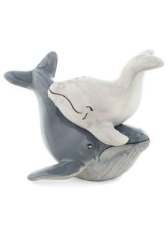 Whale Watch and Learn Shaker Set from ModCloth. Magnet attaches baby whale to mama whale.