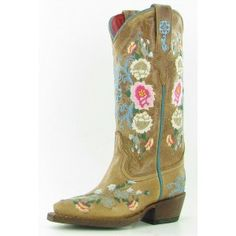 Embroidered cowboy boots.