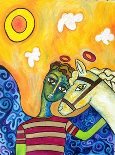 Àngel del caballo. Artista Carla Arouesty.
