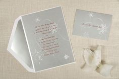 Winter Wedding Invitation. Item number shown is T1182, look for this invitation on our website!