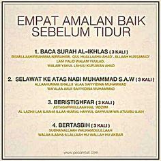 Amalan sebelum bobo Y Hijrah Islam, Doa Islam, Reminder Quotes, Self Reminder, Asma Allah, Quran Quotes Inspirational, Islamic Messages, Islamic Qoutes, Islamic Teachings