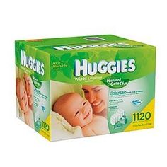 Huggies Natural Care Baby Wipes 1120 Count by Kimberly Clark. $22.90. HUGGIES Natural Care® Baby Wipes are the gentle clean for a baby's naturally perfect skin.. Save 48%!