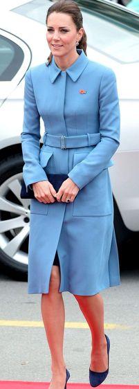 Alexander McQueen Blue Belted Utility Coat (Custom) - WORN 4/10/14   6/6/14   2/7/16