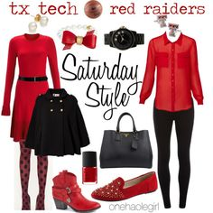 Happy Saturday! Alright loves, I'm back with an all new Saturday Style! It's basketball season, but who says attending sporting events shouldn't be fashionable? I absolutely love doing spreads for you so I couldn't stop with college football!  The first team I did was Texas Tech. Teresa from My Day...
