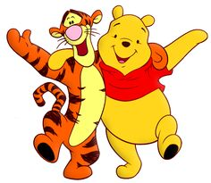 Winnie the Pooh and Tiger Cartoon PNG Free Clipart