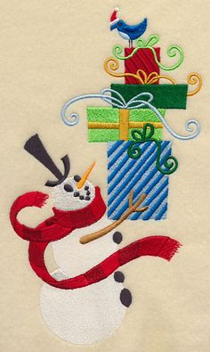 Christmas Toyland Tower - Snowman design (H9134) from www.Emblibrary.com
